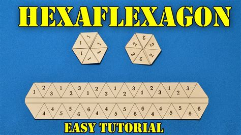 How To Make A Flexagon Out Of Paper - how to make hexaflexagon flexagon origami easy tutorial