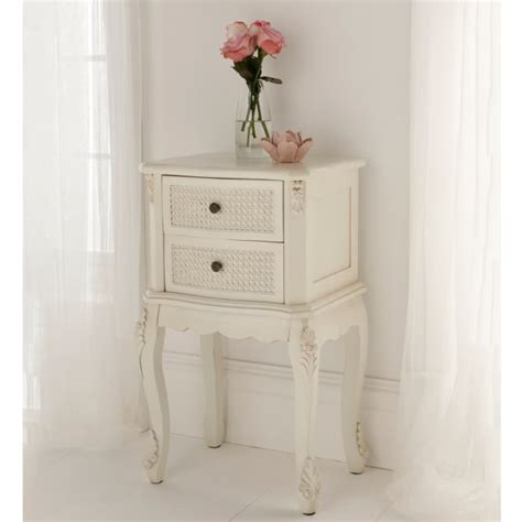 shabby chic table for bedroom rattan shabby chic antique style bedside table shabby