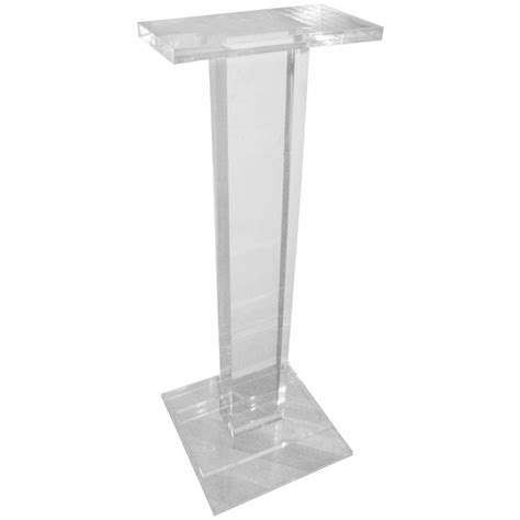 Century Home Decor by Thick Lucite Modern Pedestal Sculpture Stand Table At 1stdibs
