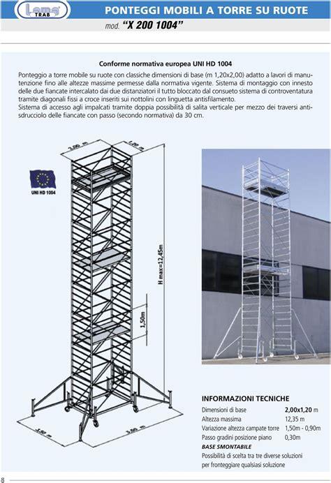 ponteggi mobili su ruote ponteggi mobili a torre su ruote in acciaio zincato pdf