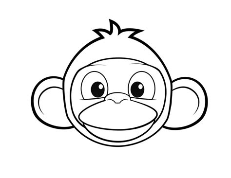 monkey face coloring page gallery monkey head coloring
