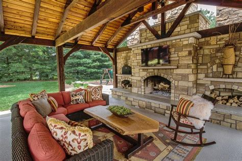 outdoor pavilions with fireplaces poolside pavilion with tv outdoor fireplace kitchen hgtv