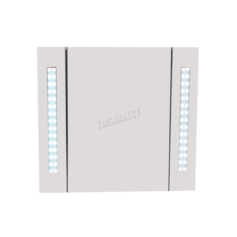 Led Illuminated Bathroom Mirror Cabinet Foxhunter Led Illuminated Mirror Bathroom Cabinet Steel Storage Cupboard Sensor Ebay