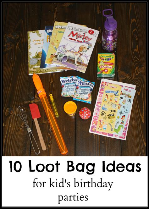 10 loot bag ideas for kid s birthday the write