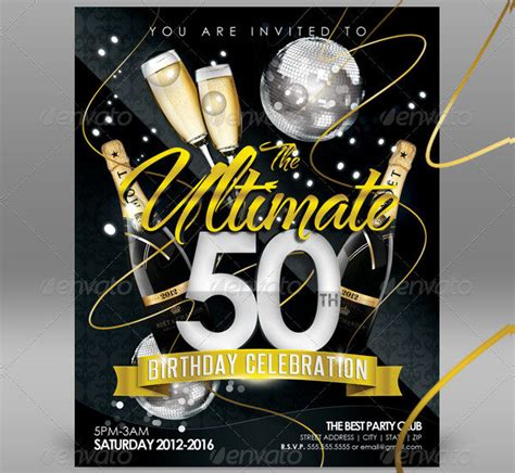50th Birthday Invitation Card Template by 50th Birthday Invitation Templates 21 Free Premium