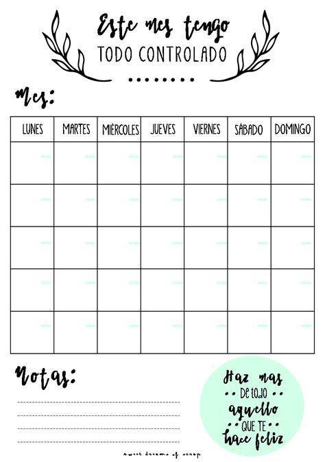 tu plan enforma las 25 mejores ideas sobre planning mensual en planificador organizado