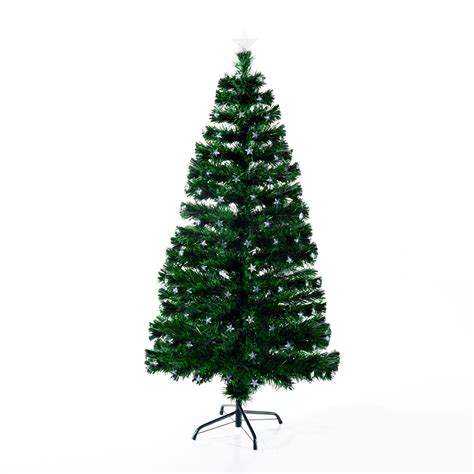 homcom christmas tree control homcom 7 5 artificial pre lit led tree with stand items 100