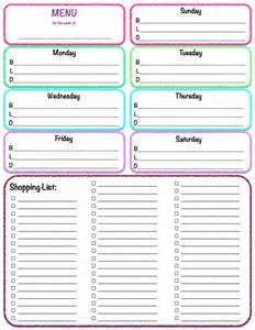 Meal Planner Template With Grocery List by Weekly Meal Plan Calendar Template 2017 Calendar Printable