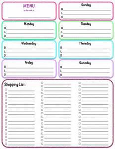 weekly meal plan calendar template 2017 calendar printable