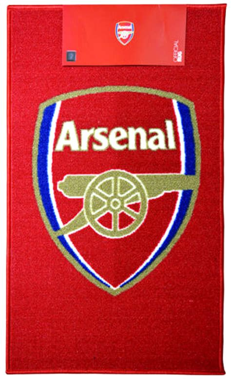 arsenal official official arsenal fc football club crest rug carpet kids
