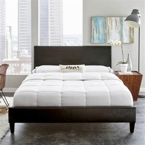 walmart upholstered bed premier zurich full upholstered platform bed black