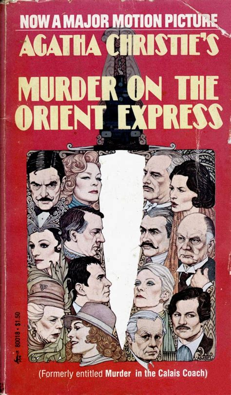 Novel Murder On The Orient Express Cover Agatha Christie murder on the orient express by agatha christie pocket book edition illustration by richard