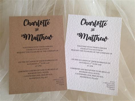 wedding invitations guest names printed and grooms names wedding invitations stationery