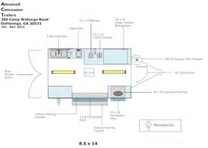 Food Truck Layout Template by Trailer Layout Advanced Concession Trailers