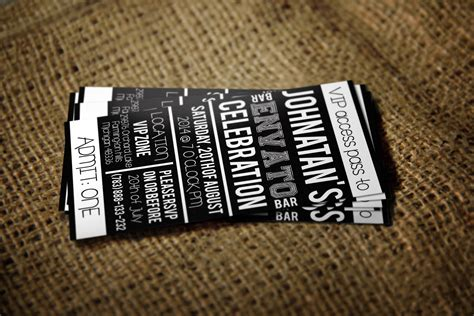 Vip Pass Card Template by Vip Pass Card Template Card Templates On Creative Market