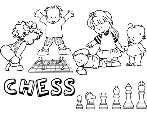 ajedrez para ninos chess 8425517893 clipart chess coloring book dibujo ajedrez para colorear 16