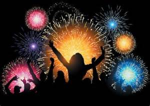 colorful fireworks vector celebration background welovesolo