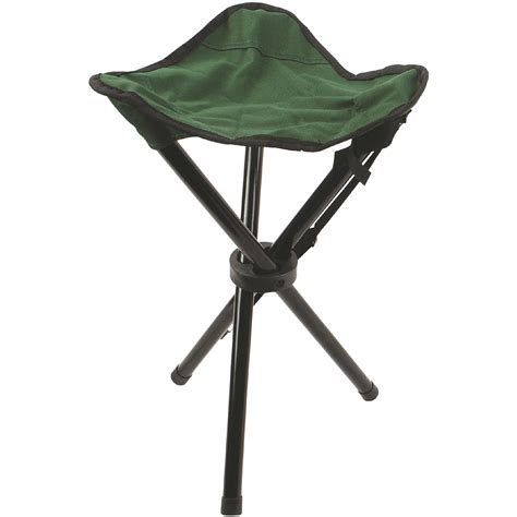 tripod cing furniture green highlander steel tripod stool green cing furniture