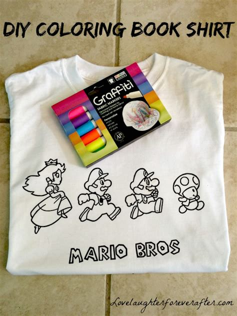coloring book merchandise how to make a coloring book shirt for