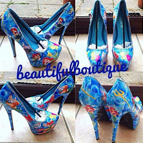 decoupage high heels stunning handmade decoupage themed heels disney