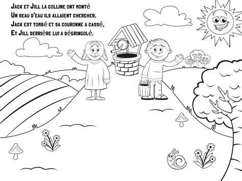preschool coloring pages jack and jill jack and jill nursery rhyme coloring page murderthestout