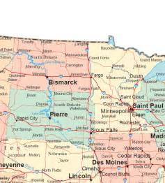 Northern States Map northern plains states road map
