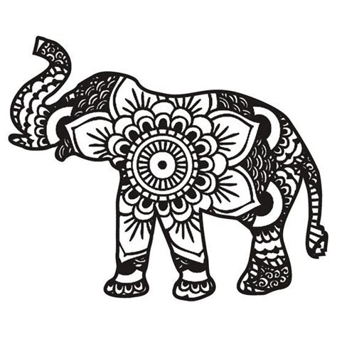 Elephant Decor For Home Best 25 Mandala Elephant Ideas On Pinterest Animal