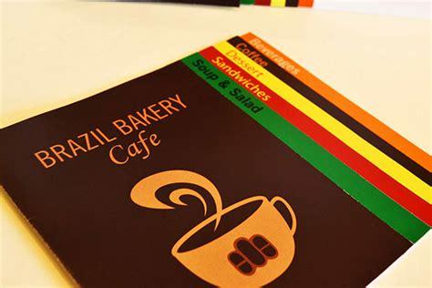 menu card design for cafe menu card for brazil bakery cafe on behance