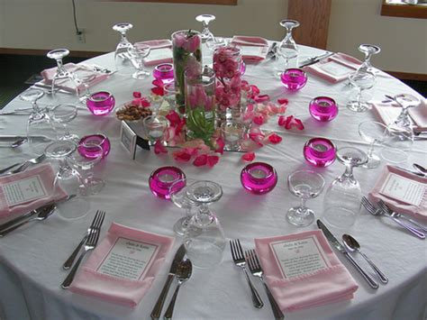 wedding reception table decorations romantic decoration