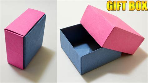 Origami Gift Box - origami gift box with cover easy