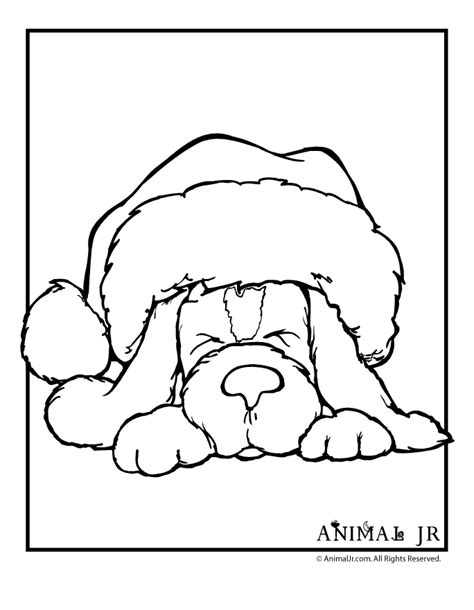 coloring pages dogs christmas 39 christmas dog coloring pages gianfreda net