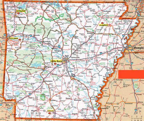 printable road map arkansas hognews com state pages arkansas