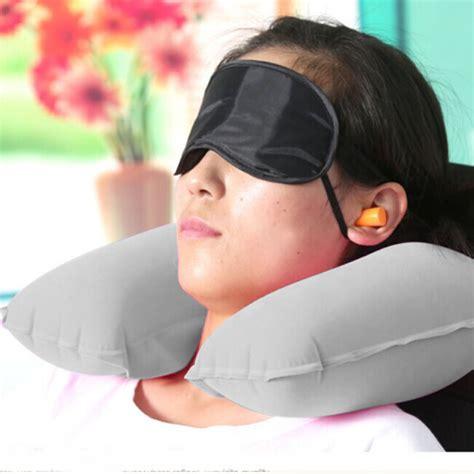 Promo Pvc Neck Pillow High Rest H0t019 Bantal Udara travel pillow neck u rest air cushion eye mask earbuds 11street malaysia pillows