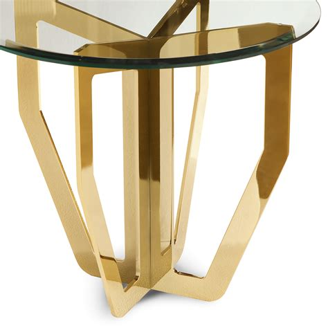 High Side Table High End Italian Designer Glass Side Table