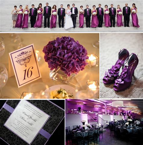 the color purple themes color schemes black wedding wedding ideas wedding stuff