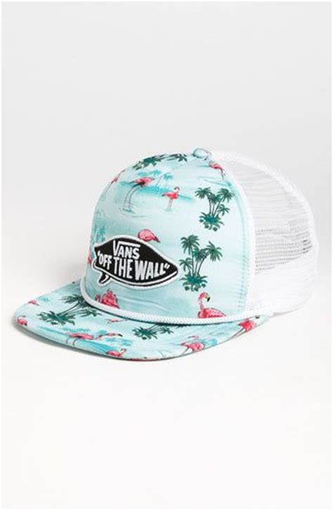 Topi Trucker Vans The Wall Flock Print vans pink flamingo trucker hat great ways to accessorize flats awesome and summer