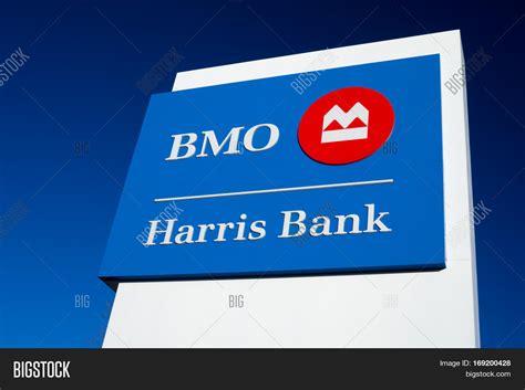 harris trust bank bmo harris bank exterior sign logo image photo bigstock