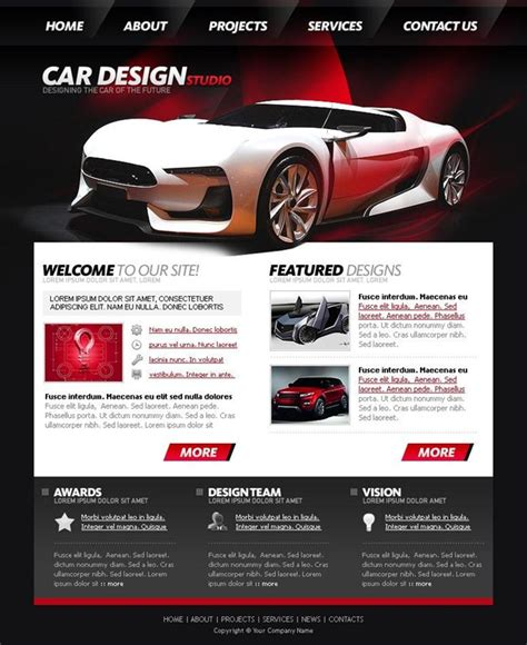 50 Beautiful Free And Premium Psd Website Templates And Tutorialscreative Can Car Website Design Templates