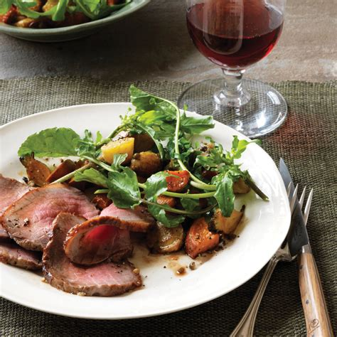 beef roast with root vegetables roast beef with root vegetable and green peppercorn salad