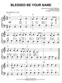 blessed be your name sheet music direct