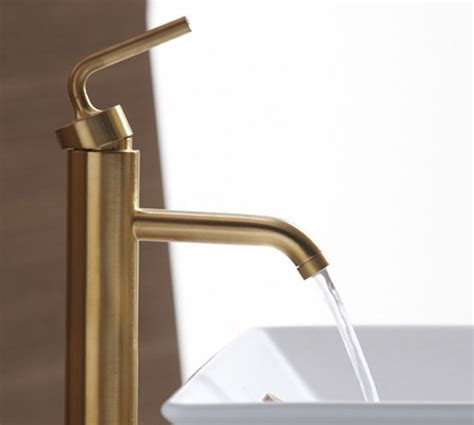 bathroom fixtures kohler brushed gold bathroom faucets by kohler