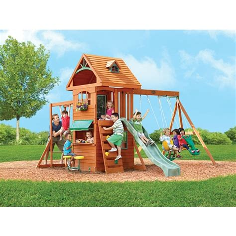 swing 2 us toys quot r quot us big backyard ridgeview clubhouse swing set