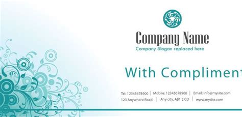 with compliments card template 94 best compliment slips images on