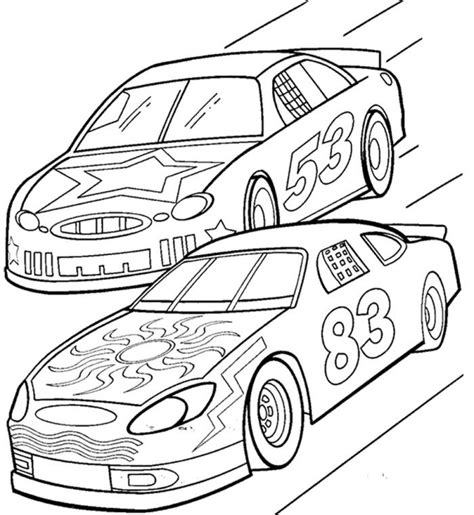 coloring book tracks two car track racing coloring page race car