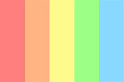 rainbow color palette the pastel rainbow color palette