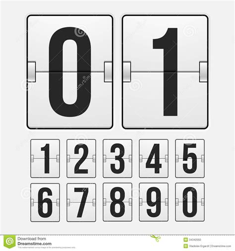 color timer countdown timer white color mechanical scoreboard stock