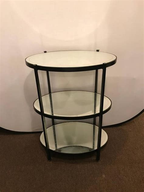 Standing Bar Table Jonathan Charles Three Tier Eqlomise Side Table Standing Bar For Sale At 1stdibs