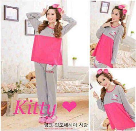 Baju Tidur Piyama Wanita Dewasa piyama baju tidur wanita dewasa quot setelan pink abu quot modis terbaru murah