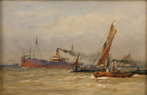 thames river america shipping on the river thames painting by motionage designs