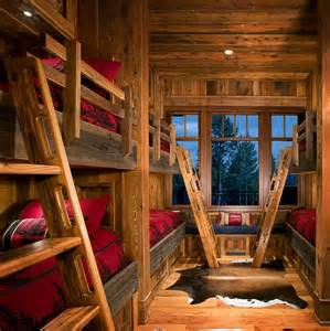 Cabin Styles by Bunk Beds With A Rustic Cabin Style Decoist